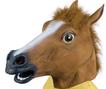 Horse head mask - brown